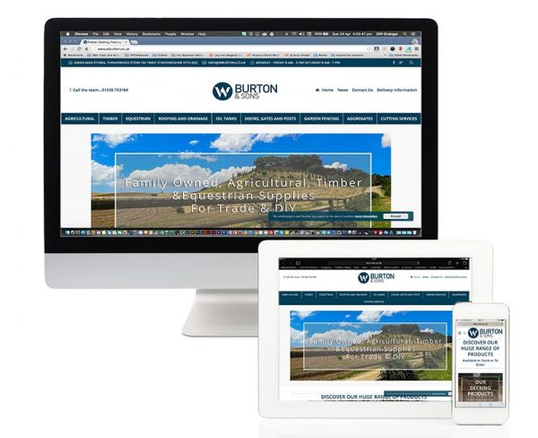 wburton website on devices