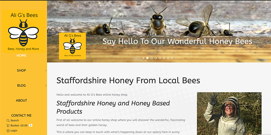 New website for Ali Gees Bees